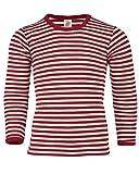Engel - Kinder Shirt L/S - Merino Base Layer Size 176, Red/Sand