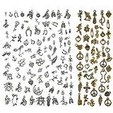FOCCTS Kits de 150pcs Colgantes DIY Mezclados Dijes para Bisutería para Bricolaje,Laveros, Pulseras, Collares, Pendientes