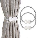 OOTSR Magnetic Curtain Tiebacks Raffhalter für Gardinen Vorhanghalter für Vorhänge & Gardinen, Klassischen Europäischen Vorhang Magnetic Tieback für Heim & Büro-Dekoration(Grau)