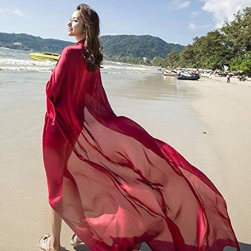 Seidenschal Damen Sommer Sand Tuch Strand Handtuch Hundert Gesetzt Sonnenschal Chiffon Übergroßen Schal Übergroßen Schal Pro
