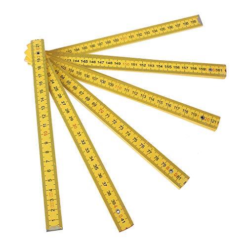Regla plegable de 2 metros de largo útil para trabajos de carpintero