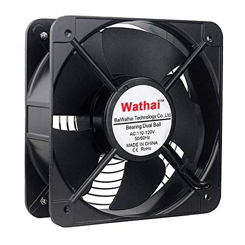 Wathai AC 20060 200mm x 60mm Dual Ball 110v 120V High Performance Industrial Cooling Fan
