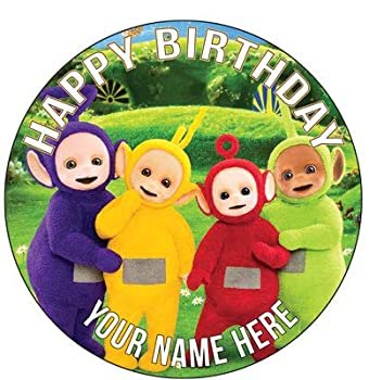 7.5 InchHappy Choices Custom Cake - Teletubbies Cupcake Birthday - Edible Cake and Party Cake Topper