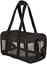 AmazonBasics Soft-Sided Mesh Pet Travel Carrier, Small (14 x 9 x 9 Inches), Black