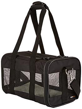 AmazonBasics Sac de transport à parois souples pour animal de compagnie Noir TailleS