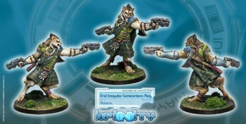 Infinity Ariadna  Cameronians - Chain Rifle, AP CCW (1)