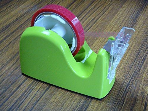 ミミタブテーパーカッターユニット+プラス社テープカッターTC−301(グリーン) <折返しツマミテープカッターユニットとカッター台のセット品>