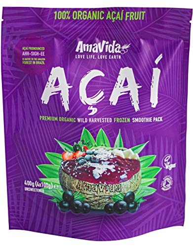Acai Premium Grade Organic Smoothie Packs. 3x400g 1.2kg (Frozen)
