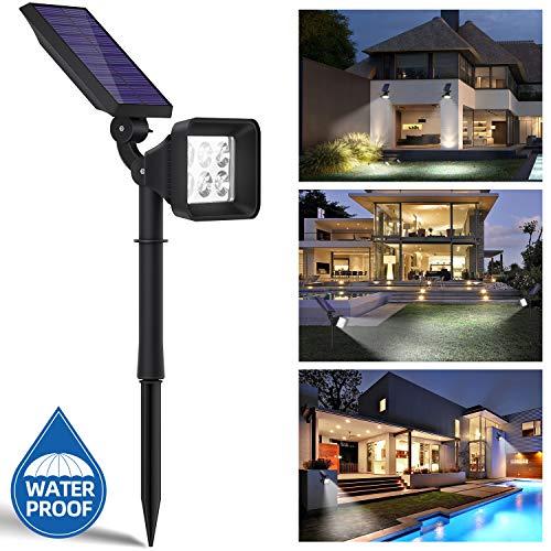OUSFOT Solarlampen für Außen Solarleuchte Garten 2 Beleuchtungsmodi Solarleuchten für Außen 2200mAh Wasserdicht Verpackung MEHRWEG