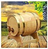 Barril de Roble Toneles para vino Barril de Madera Barril de roble, 1.5L / 3L / 5L / 10L Barril De Cerveza De Whisky para elaborar cerveza o almacenar Cerveza, Whisky, Vino tinto (con Tap)