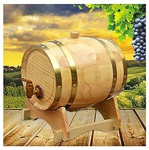 HWhome Barril De Vino De Licor De Cerveza Barril de Roble, 1.5L / 3L / 5L / 10L Barril De Cerveza De Whisky para elaborar Cerveza o almacenar Cerveza, Whisky, Vino Tinto (con Tap) (Size : 5L)
