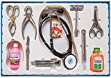 Mikha Doctor Set Toy for Kids, Set of 10, Pretend Play Toys, Learning Toys for Kids, Plastic Material Steel Lookalike