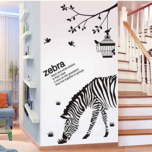 HlNaughty Hot Koop Zwarte Zebra Vogels Muurstickers DIY Boomtak Muurstickers voor Huis Woonkamer Kids Slaapkamer Decoratie 60 * 90Cm