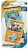 Pokemon TCG: Sun & Moon - Checklane Blister Pack + Rockruff Card & Collectible Coin