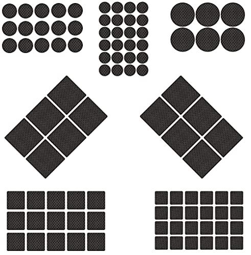 Anti-Rutsch-Möbel-Pads, sichere Tisch- oder Stuhl-Pads, 184 Stück, rutschfeste EVA-Schreibtischunterlagen, 7 Größen, Möbelfüße, hochwertige und langlebige Möbelpads oder Schreibtischfüße.