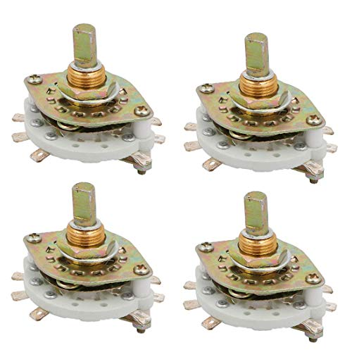 New Lon0167 4 unids Destacados KCZ 2 polos eficacia confiable 3 posiciones 6mm Dia Eje Banda Selector de interruptor rotativo de canal(id:e78 f1 4b 1d5)
