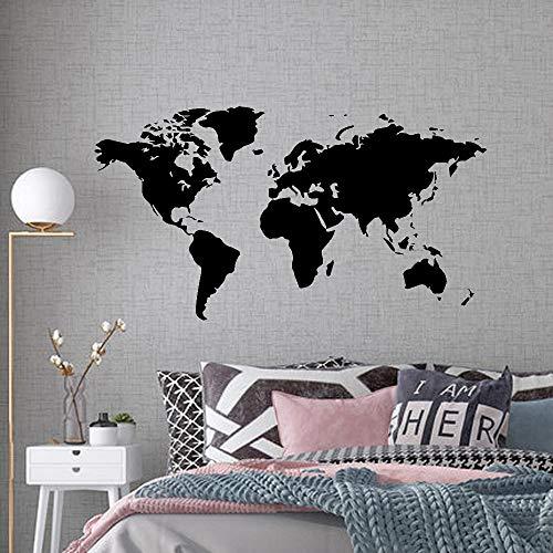 Sticker kunst aan de muur Grote Sticker Muurtattoo World Map For House Living Room Interieurstickers Slaapkamer Decor Wallstickers Wallpaper Mural (Size : 43cm X 79cm)