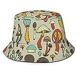 Sombrero de Copa Primavera Mujeres Cubo Pesca Sombreros Protector Solar Sol Gorra Setas Diseños De Flores Primavera Dama Pescador Sombrero-Customized,One Size