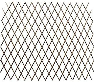 Master Garden Products Carbonized Barkless Willow Expandable Fence, 72 by 72-Inch, Light Mahogany Color
