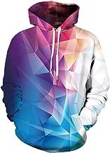 Xiaohudui Unisex Realistic Crystal Pink Printed Hip Hop Street Style Hip Hop Sweatshirt Pullover Hoodie for Men Women