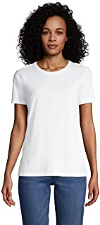 Lands' End Women's Tall Relaxed Fit Supima Cotton Crewneck Short Sleeve T-Shirt