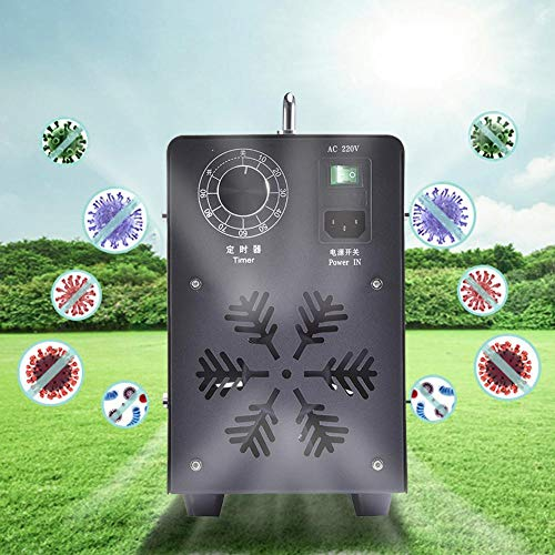 ZSLGOGO 10000mg/H Generador de ozono Profesional Temporizador Ajustable generador de ozono purificador de Aire Eliminador de olores Industrial para Habitaciones Humo Coches Mascotas (Black)