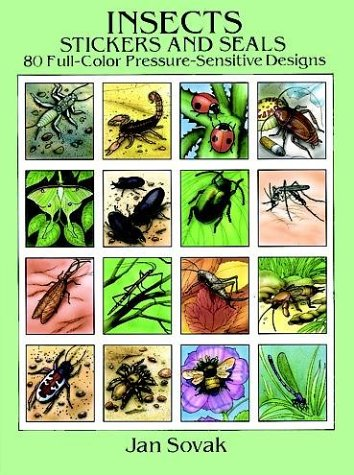 Insects Stickers and Seals: 80 Full-Colour Pressure-Sensitive Designs