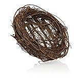 com-four® nido d'uccello decorativo, nido realistico fatto di ramoscelli naturali, ottima decorazione per pasqua, amorevolmente realizzato a mano (1 pezzo - nido d'uccello naturale 30x10cm)