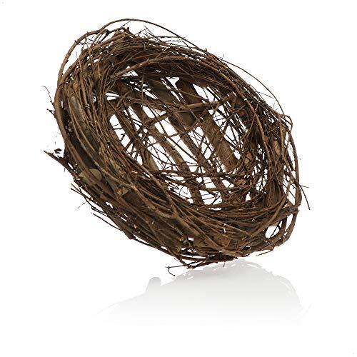 com-four® Nido de pájaro Decorativo, Nido Realista Hecho de ramitas Naturales, Gran decoración para la Pascua, Realista Porque Hecho a Mano con Amor (1 Pieza - Nido de pájaro Natural 30x10cm)