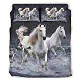 YOUYO Spark F-ree - Juego de cama para caballo (228 x 264 cm), color blanco