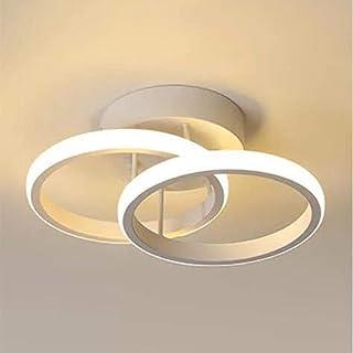 Plafonnier LED, LED Lustre de Plafond, Luminaire Plafonnier, Blanc Chaud 3000K, 22W, Plafonnier en Acrylique Chic Moderne ...