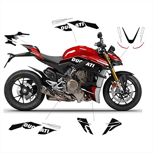 Vulturbike Aufkleber-Set Black Design - Ducati Streetfighter V4 / V4S