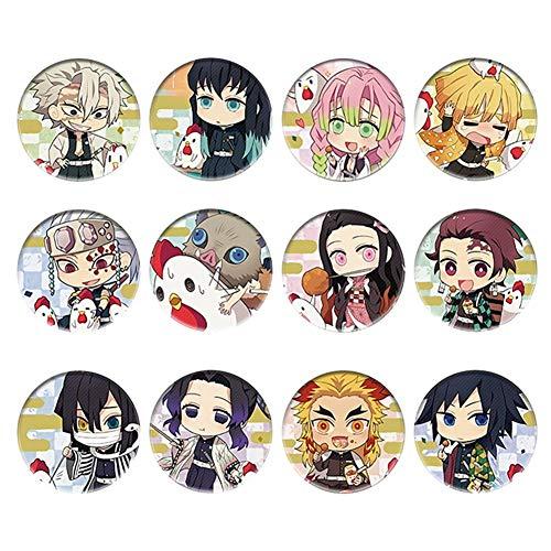 dili-bala New 2020 Anime Demon Slayer Kimetsu Keine Yaiba Button Pins Geschenk Demon Slayer Button Pins Cosplay Zeichen(1H03)