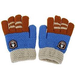 Winter Warm Girls Boys Cartoon Gloves,Children Kids Thick Knitted Stretch Mittens Hands Warmer Outdoor