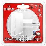 Skross SKR1500205, Adattatore da Viaggio da UE a Svizzera, Bianco
