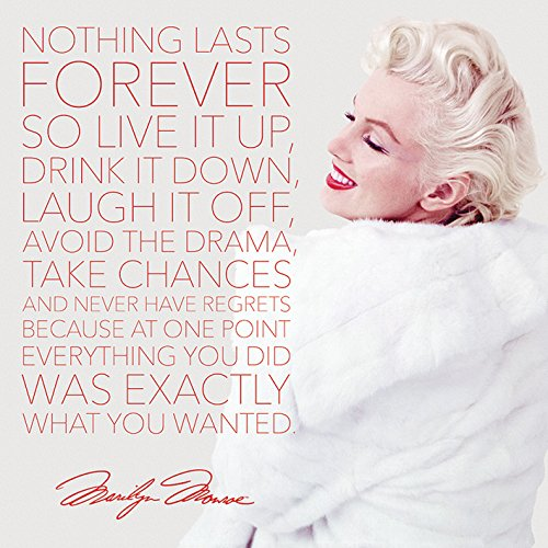 """Marilyn Monroe """"Nothing Lasts Forever Canvas, Multicolor (40x 40cm"""