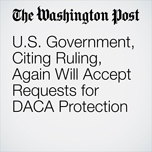 U.S. Government, Citing Ruling, Again Will Accept Requests for DACA Protection copertina