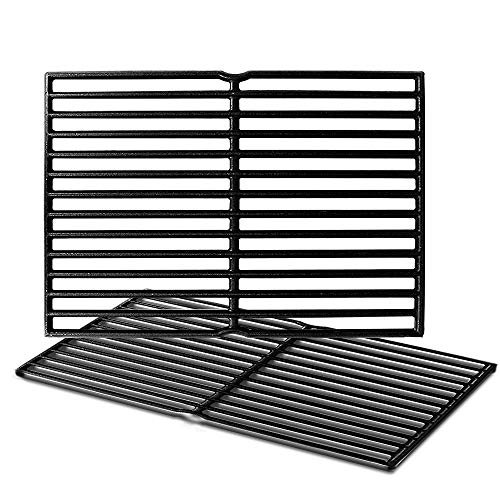 Outspark 7522 Cast Iron Grill Grates Cooking Grid (15' x 11.25' ) for Weber Spirit 200 Series, Spirit 500, Genesis Silver A, Grill Grids Replacement Parts for Weber 7521, 7522- Set of 2