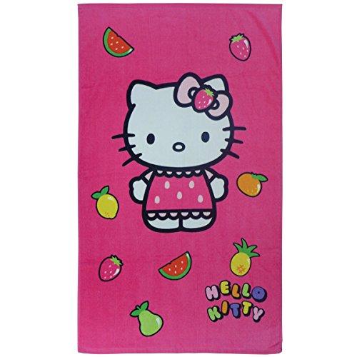 CTI 043246Hello Kitty Fruity–Toalla de Playa 70x 120cm, Color Rosa