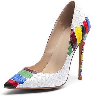 أحذية الكعب العالي للنساء ذات الكعب العالي مدبب مدبب مدبب مثير الانزلاق على حزب الزفاف مضخات الأساسية اللباس