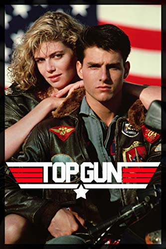 Sweetums Signatures Top Gun Movie Tom Cruise and Kelly McGillis 80s Poster Print - 24' x 36' inch(60 x 91.5 cm) Frameless Gift Rolled