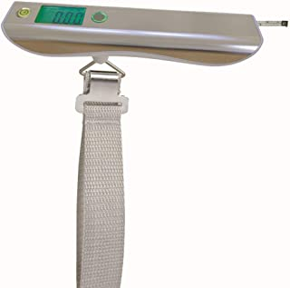 WXYXG Electronic Scale, 50KG 0.05kg Precision Household Electronic Scales Portable Scales Baggage Scales, with Luggage Overweight Reminder Function (Color : White)