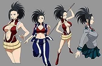 TianSW YAOYOROZU MOMO (22inch x 14inch/54cm x 35cm) My Hero Academia Season 3 Midoriya Izuku All Might Waterproof Poster No Fading