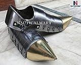 Disfraz de arpa medieval de acero para Halloween, diseño naútico