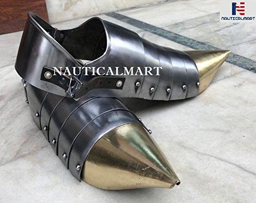 Disfraz de arpa medieval de acero para Halloween, diseo natico