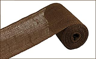 Loose Weave Burlap, 10 Yards (Chocolate Brown, 6