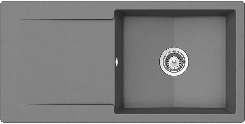 Schock Epure D-100 L A Croma Granit Spüle Schwarz Auflage Einbauspüle Küchenspüle
