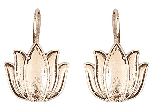 Touchstone, orecchini tradizionali tribali, stile indiano, stile afghano, bohémien, loto Inspired Designer orecchini da donna in argento ossidato.
