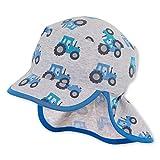 Sterntaler Baby-Jungen Schirmmütze mit Nackenschutz Mütze, Silber, 45