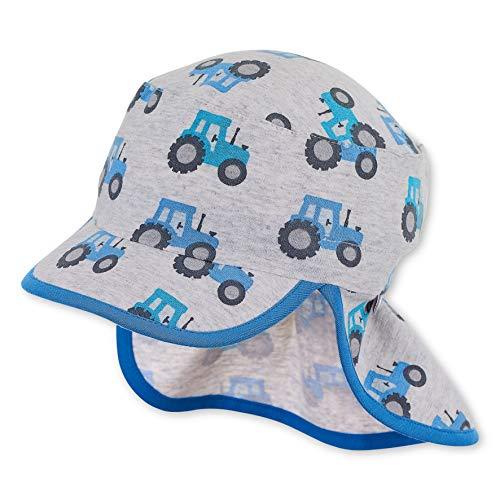 Sterntaler Jungen Schirmmütze mit Nackenschutz Mütze, Silber, 53